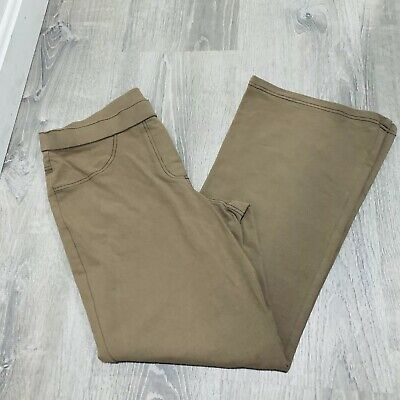 Women With Control Womens Petite Pants Sz MP Tan Stretch Causal Career AF08