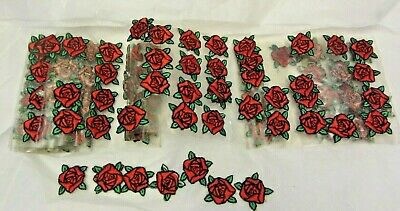Vintage Red Rose Applique Lot Iron On Patches Flowers - Over 140!