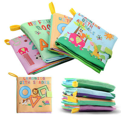 Soft Baby Cloth Book Early Educational Newborn Crib Toys for 0-36 Months