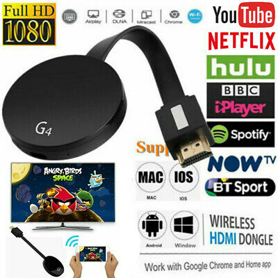 Chromecast 4rd Generation HDMI Digital Media Streamer Video Wireless YouTube