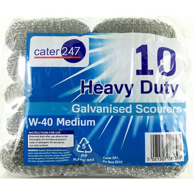 Cater 247 Large Heavy Duty Galvanised Scourers W-40 uk