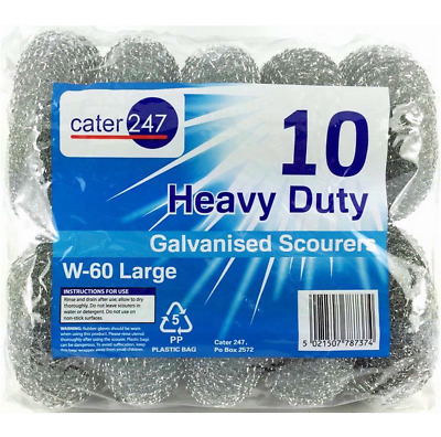 Cater 247 Large Heavy Duty Galvanised Scourers W-60 uk