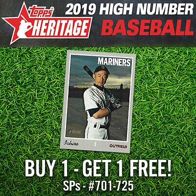 2019 Topps Heritage High Number SHORT PRINTS - SPs - YOU PICK YOUR CARD