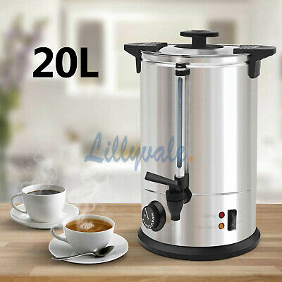 20 Litre Electric Stainless Steel Catering Water Boiler Tea Urn Commercial