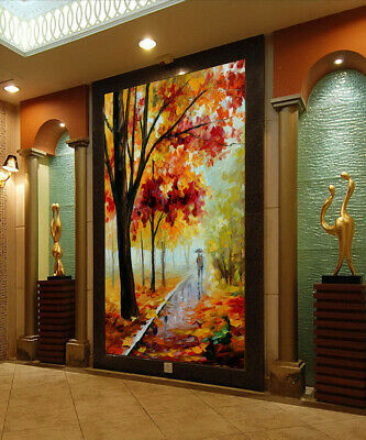 3D Autumn Yellow Leaves R259 Wallpaper Wall Mural Self-adhesive Commerce Amy