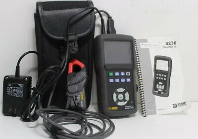 AEMC 8230 Single-Phase Power Quality Analyzer with Probe MN193-BK CT, 6A/120A