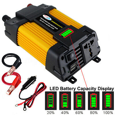 6000W Peaks Power 12V DC TO 110V 220V AC Car Power Inverter Solar Converter