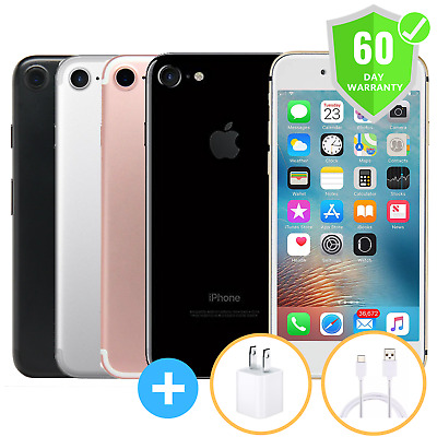 Apple iPhone 7 32GB 128GB 256GB | GSM Factory Unlocked | ATT Tmobile | Excellent
