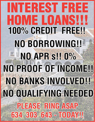 Interest Free!! Homes..the Easy Way 2 Get On 2 The Housing Ladder!! Immediately