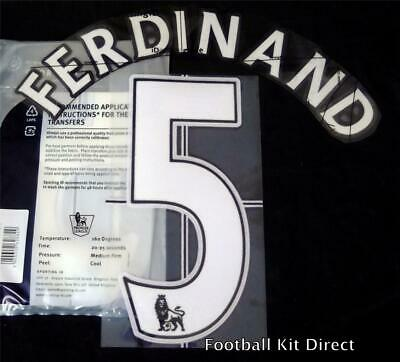 Manchester United Ferdinand 5 Name/Number Set Football Shirt Lextra 07-13 Home