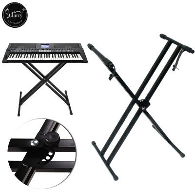 Glarry Electronic Piano X Stand Keyboard Standard Portable Rack Adjustable Metal