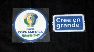 Official Copa America 2019 Brazil Football Shirt Badge/patch Player issue + cree