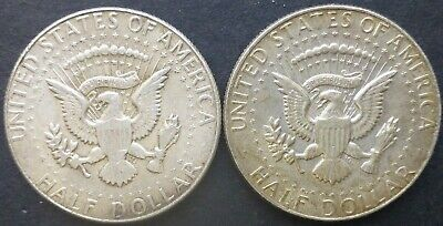 Kennedy Half Dollar 1969 two coins