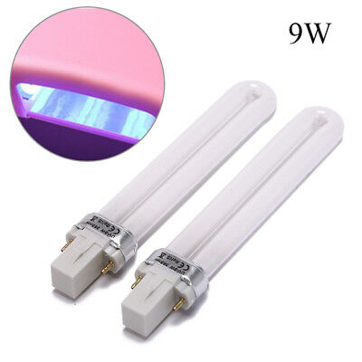 2X 9w uv lamp bulbs for nails lamps replacement gel nail dryer uv light b KY