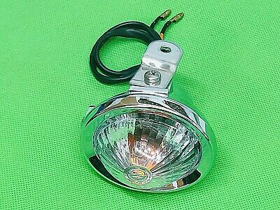 NECO ABRUZZI CHROME FRONT LEFT HAND INDICATOR WITH WIRING 50cc - 125cc MODELS