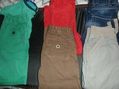 selection of boys trousers and shorts age 3-4 years