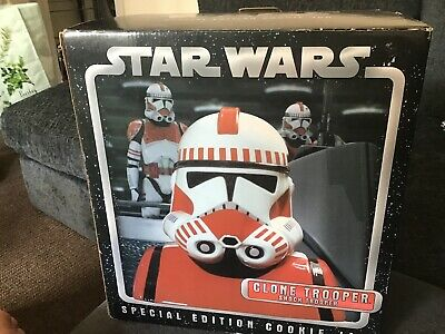 star wars special edition cookie jar clone trooper new cards inc characters 2005