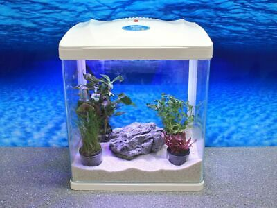 HR-320 Blanc Mini-Aquarium Nano Complet Aquarium + Filtre Installation