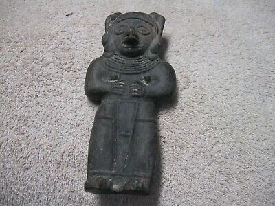 PRE-COLUMBIAN_Carved Stone  of a full Figure of a man