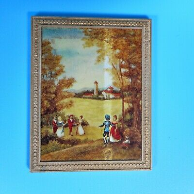 Ideal Petite Princess Dollhouse Toy Miniature Painting Picture Wall Art VTG MCM