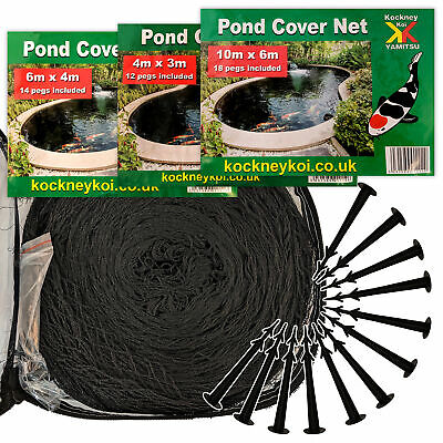 Kockney Koi Pond Cover Nets Protect Your Fish from Heron Foxes Cats Leaves