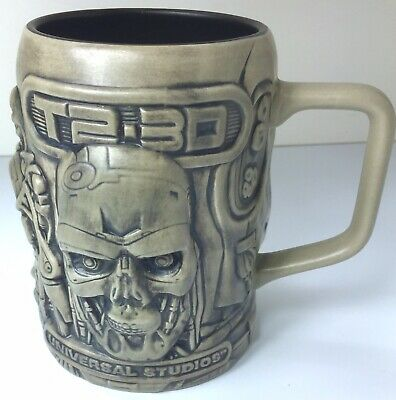 NWT Authentic Universal Studios T2-3D Terminator Coffee//Beer Mug Stein Cup NWT