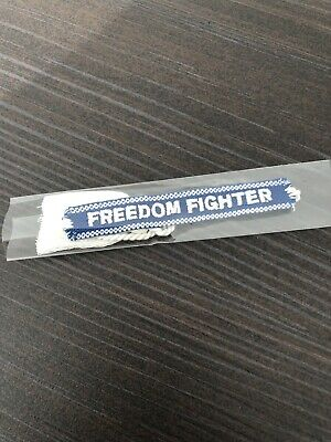 MADONNA MADAME X FREEDOM FIGHTER WOVEN BRACELET BLUE (Official 2019 ltd edition)