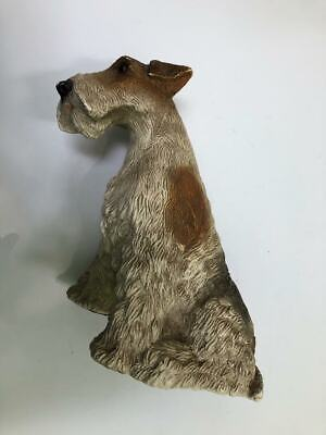 vintage Large WIRE HAIRED FOX TERRIER DOG composite figure ASTA