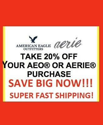 American Eagle Coupon 20% Off  ReciveTODAY: In-store/Online * EXP 9/15/19