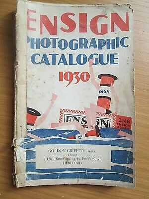 Ensign Photographic  camera catalogue from 1930