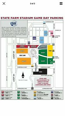 Arizona Cardinals Vs Los Angeles Rams BLU Parking Pass December 1, 2019 Blue