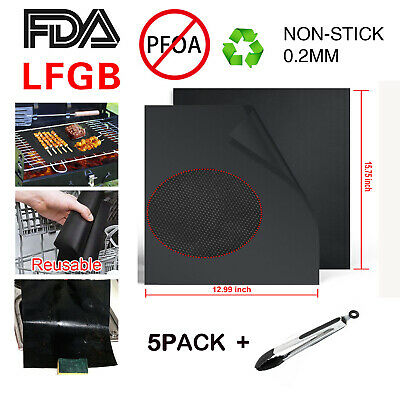 NON STICK BBQ Liners Oven Grill Foil Barbecue Liner Reusable
