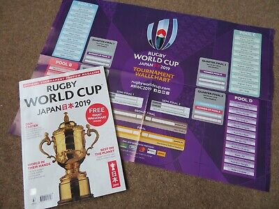 Rugby World Cup Japan 2019 Preview Magazine/ Guide - Free Wall Chart