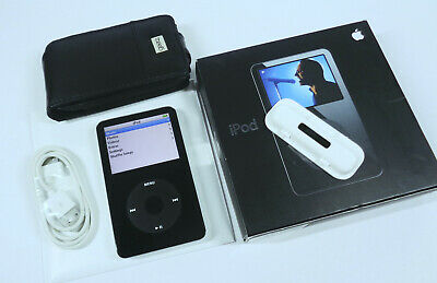 Apple iPod Video Classic 30GB 5th Gen Generation Black Enhanced MP3 WARRANTY VGC