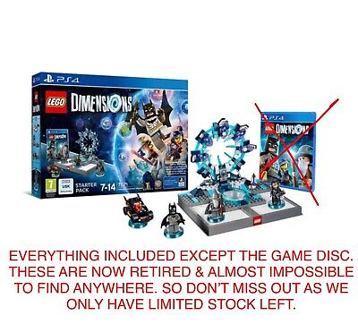 Lego 71171 Dimensions Ps4 Starter Pack, No Game Disc Inside But Everything Else