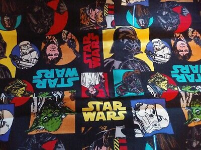 STAR WARS, Darth  Hans Solo  Yoda & Storm Troopers cotton fabric Scrap Quilt Sew