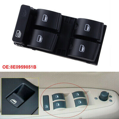 8E0959851 Driver Side Electric Master Window Control Switch For Audi A4 B6, B7