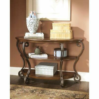 Antique Console Table Display Shelf Half Moon Entryway Hall Room Furniture NEW