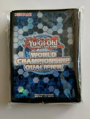 Yugioh Official World Championship Blue Sleeves New Sealed 80 Pack