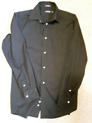 Boys Kids *CHAPS* Ralph Lauren L/S Button Up Shirt Size Large (14/16) Black EUC