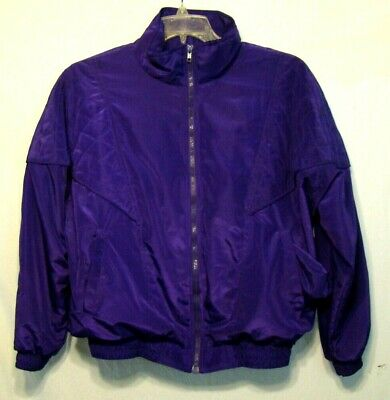 VTG 90's Argee Sports Womens PURPLE Track Suit Top Jacket lined AWESOME M