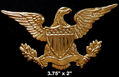 American Eagle  XL / Ornate Vintage Brass Stamping /   1 Piece