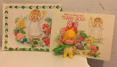 vintage strawberry shortcake rare banana twirl berrykin critter with paperwork