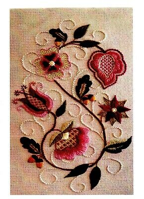 CREWEL EMBROIDERY KIT, Includes preprinted fabric,  by Di Kirchner