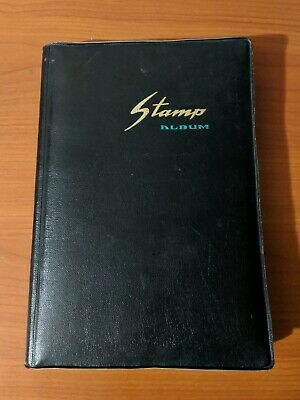 Stamp Album From the 70s with a nice Collection of World Stamps Sold As Found
