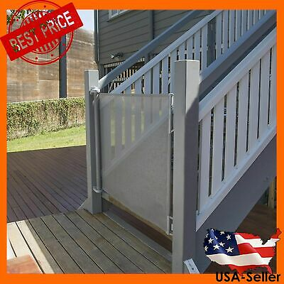 """Perma Child Safety Outdoor Retractable Baby Gate, Extra Wide up to 71"""", White"""