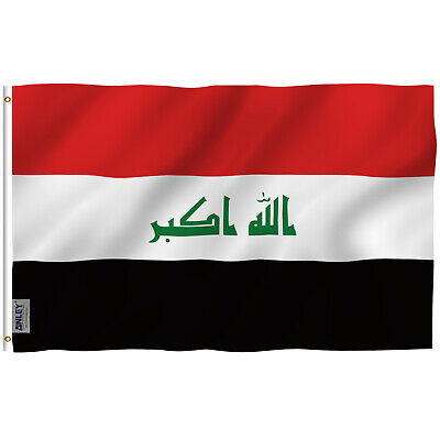 Anley Fly Breeze 3x5 Foot Iraq Flag Canvas Header Double Stitched Polyester