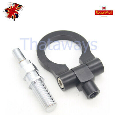 1X Racing Tow Towing Hanger Hook Car Auto Trailer Ring European For BMW Black