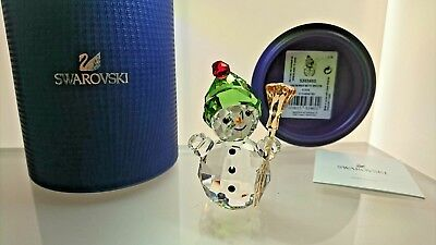 Swarovski Schneemann Mit Besen Snowman With Broom Stick 5393460 Ap 2018 Neu
