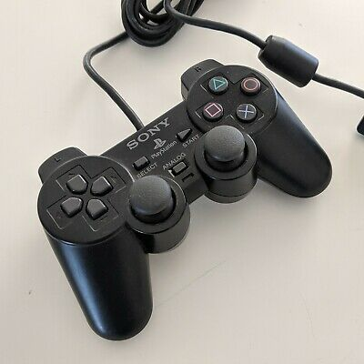 Genuine Black Sony Playstation 2 PS2 Dual Shock Controller VGC + FREE POST
